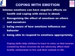 coping with emotion
