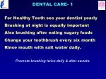 dental care 1