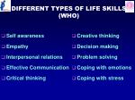 different types of life skills who