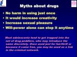 myths about drugs