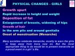 physical changes girls