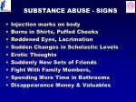 substance abuse signs
