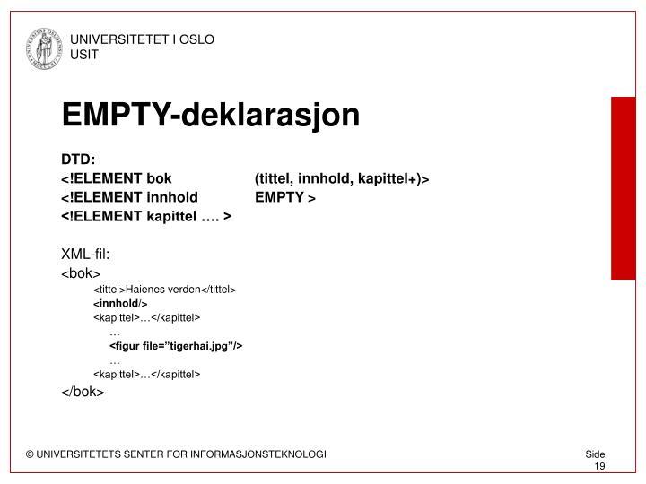 EMPTY-deklarasjon