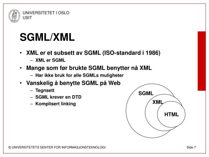 SGML/XML