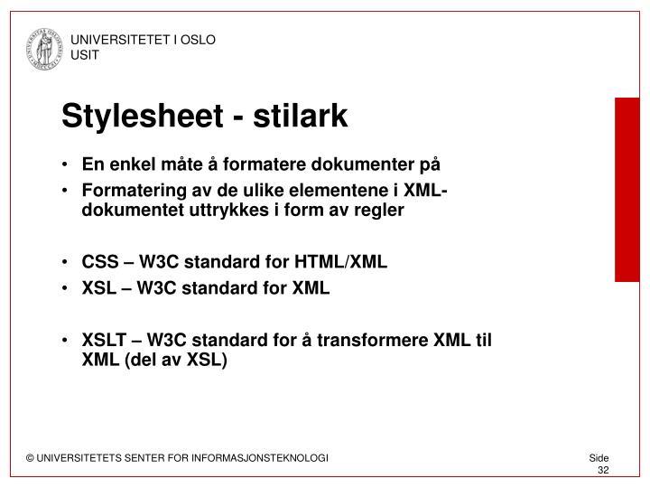 Stylesheet - stilark