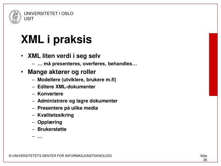XML i praksis