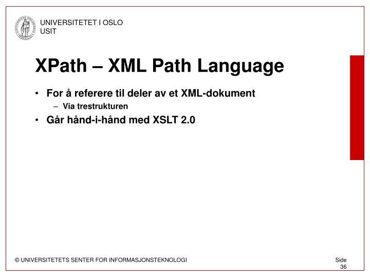 XPath – XML Path Language