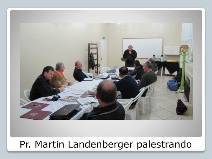 Pr martin landenberger palestrando