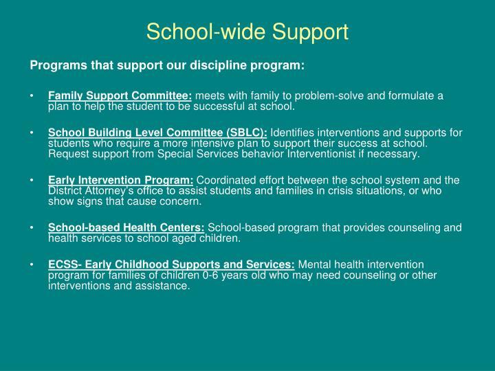 School-wide Support