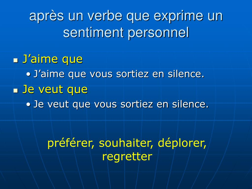 Ppt Le Subjonctif Powerpoint Presentation Free Download Id 3786245