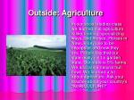 outside agriculture