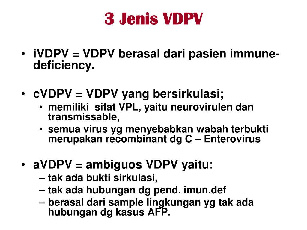 PPT Epidemiologi Poliomyelitis dan Aspek Imunisasi