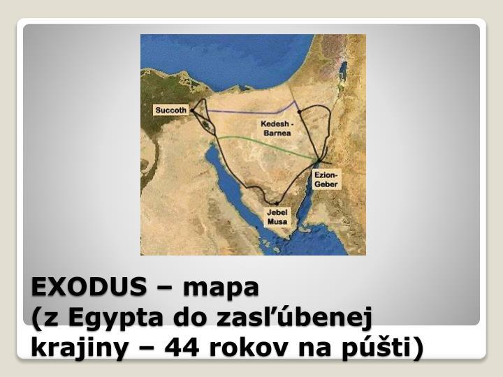 EXODUS – mapa