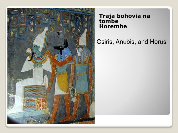 Traja bohovia na tombe