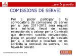 comissions de servei