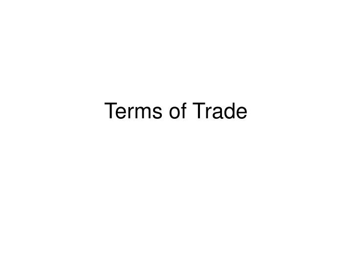 terms of trade n.