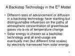 a backstop technology in the e 3 model
