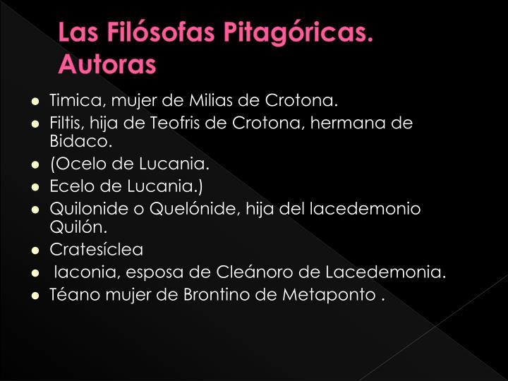 Las Filósofas Pitagóricas