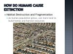 how do humans cause extinction1