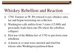 whiskey rebellion and reaction