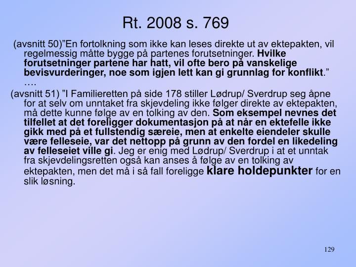 Rt. 2008 s. 769