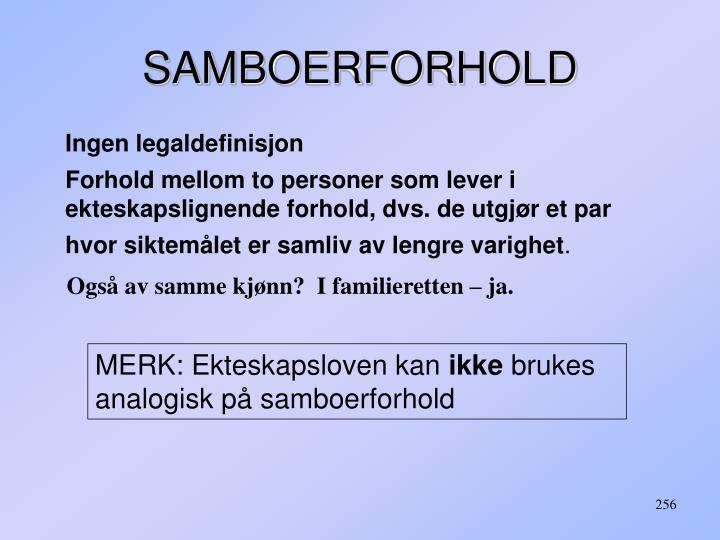 SAMBOERFORHOLD