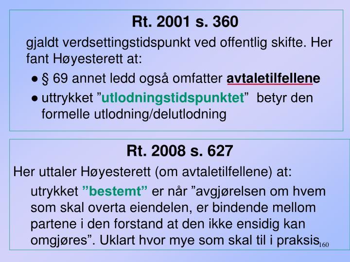 Rt. 2001 s. 360