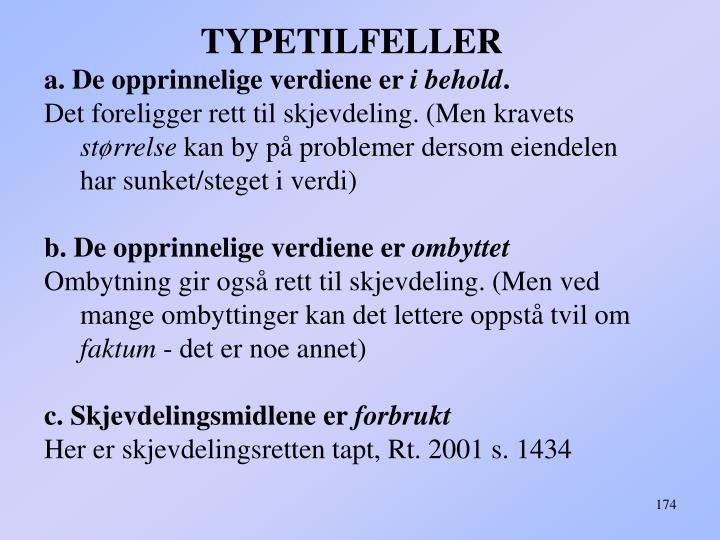 TYPETILFELLER