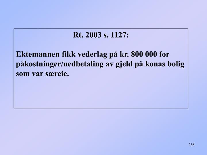 Rt. 2003 s. 1127: