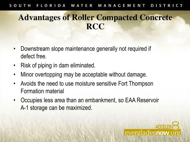 Downstream slope maintenance generally not required if defect free.