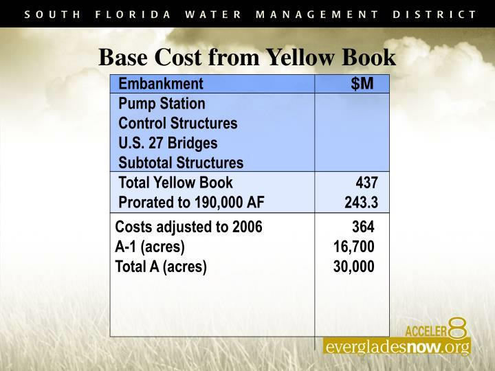 Base Cost from Yellow Book