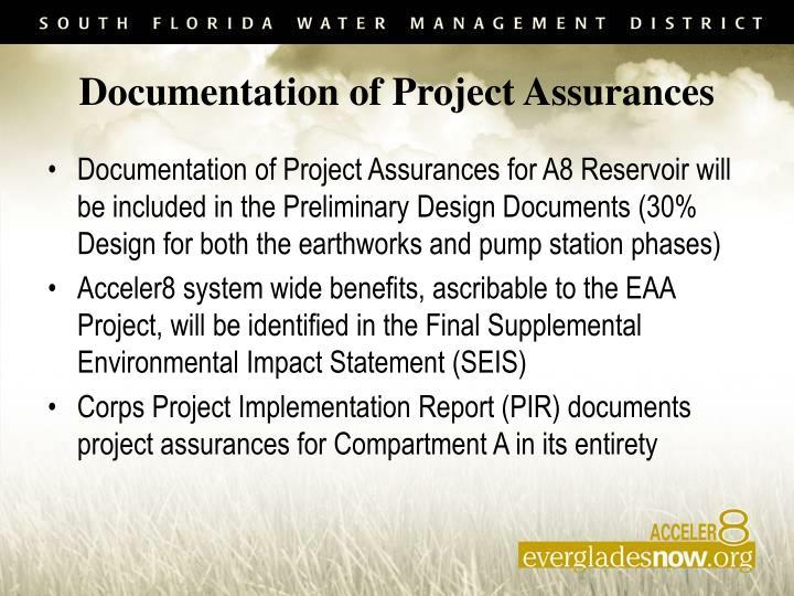Documentation of Project Assurances