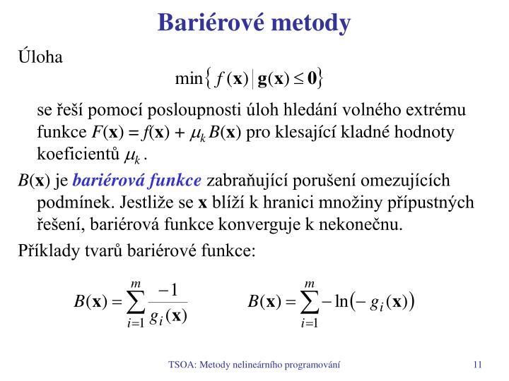 Bariérové metody