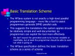 basic translation scheme