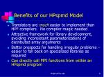benefits of our hpspmd model