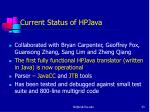 current status of hpjava