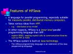 features of hpjava