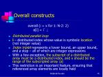 overall constructs