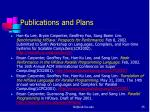 publications and plans