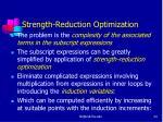 strength reduction optimization