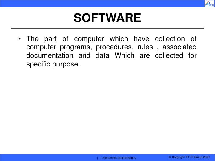 software n.