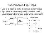 synchronous flip flops