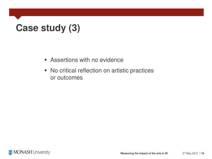 Case study (3)