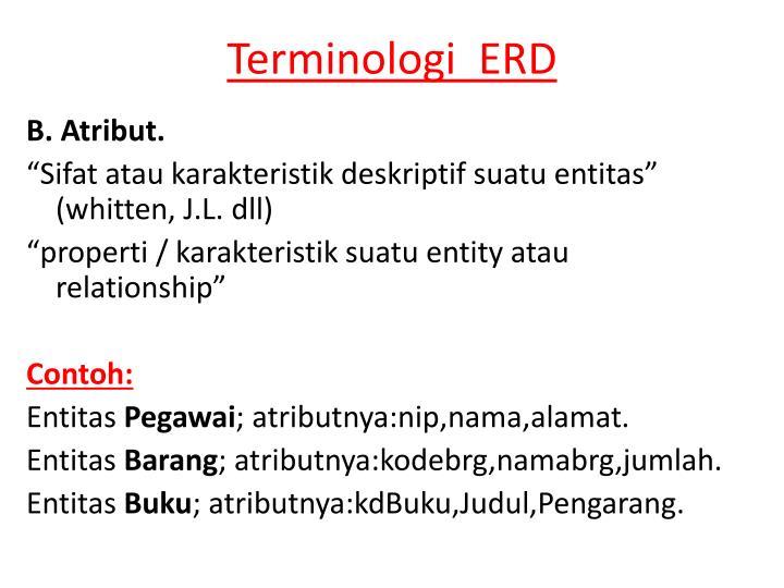Ppt Erd Entityrelationship Diagram Diagram Keterhubungan