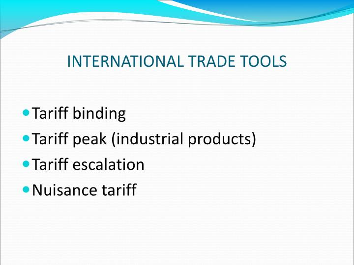 INTERNATIONAL TRADE TOOLS
