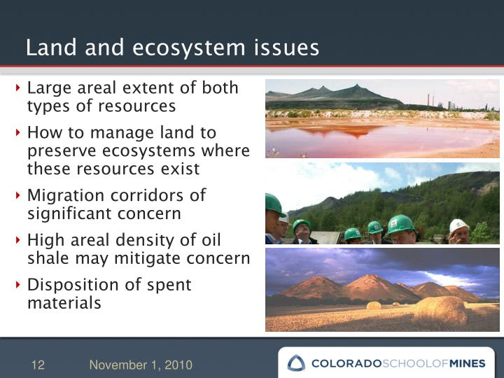 Land and ecosystem issues