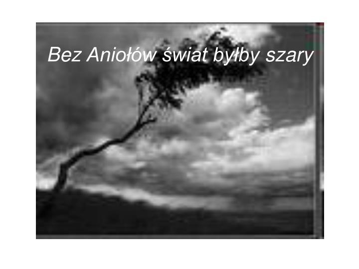 Bez anio w wiat by by szary