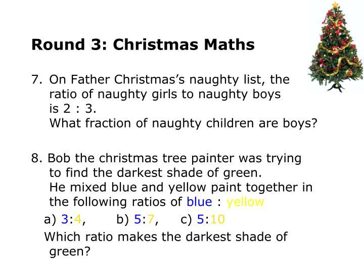 Round 3: Christmas Maths