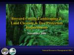 brevard county landscaping land clearing tree protection requirements