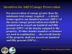 incentives for add l canopy preservation